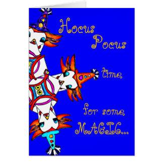 Cartão de aniversário mágico para crianças