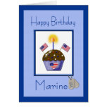 Cartão de aniversário marinho militar
