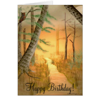 Cartão de aniversário mau da ascensão da lua