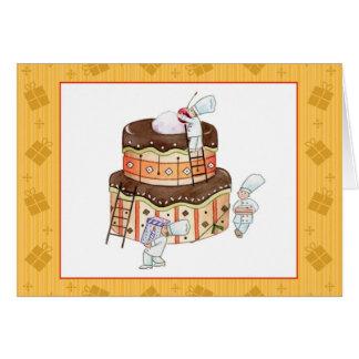 Cartão de aniversário minúsculo dos cozinheiros