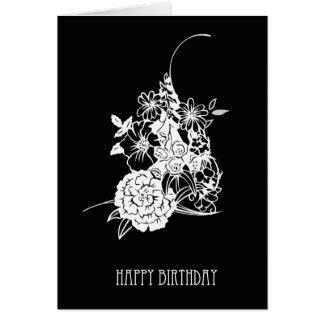 Cartão de aniversário moderno - feliz aniversario