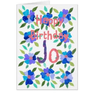 cartão de aniversário Nome-específico - Jo