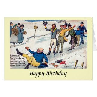 Cartão de aniversário - os papéis de Pickwick -