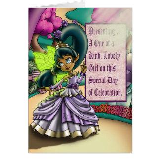 Cartão de aniversário padrão dos bens feericamente