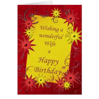 Cartão de aniversário para a esposa querida