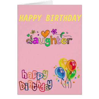 Cartão de aniversário para a filha