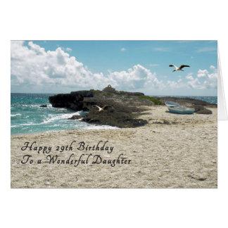 Cartão de aniversário para a filha 29a