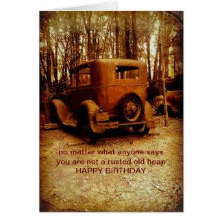 cartão de aniversário para a foto cómico do fã