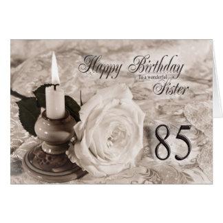 Cartão de aniversário para a irmã, 85.  A vela e