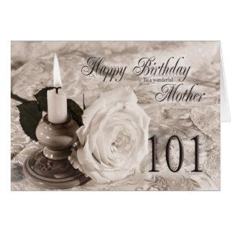 Cartão de aniversário para a mãe, 101. A vela e