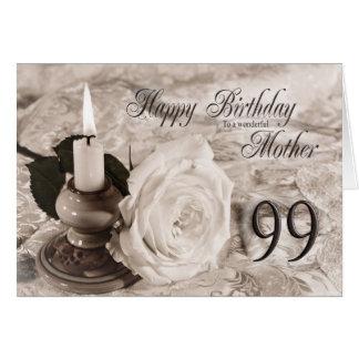 Cartão de aniversário para a mãe, 99. A vela e