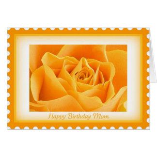 Cartão de aniversário para a mamã