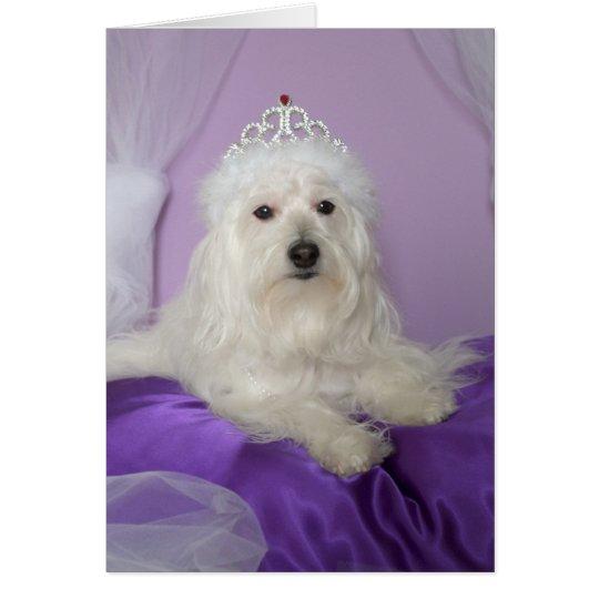 Cartão de aniversário para a neta -- Princesa