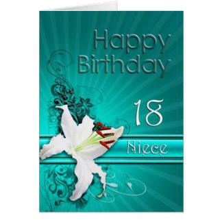 Cartão de aniversário para a sobrinha, 18 com um