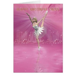 Cartão de aniversário para a sobrinha com dançarin
