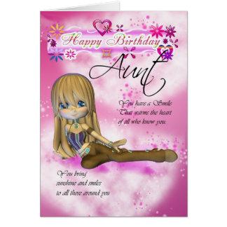 Cartão de aniversário para a tia, collecti da