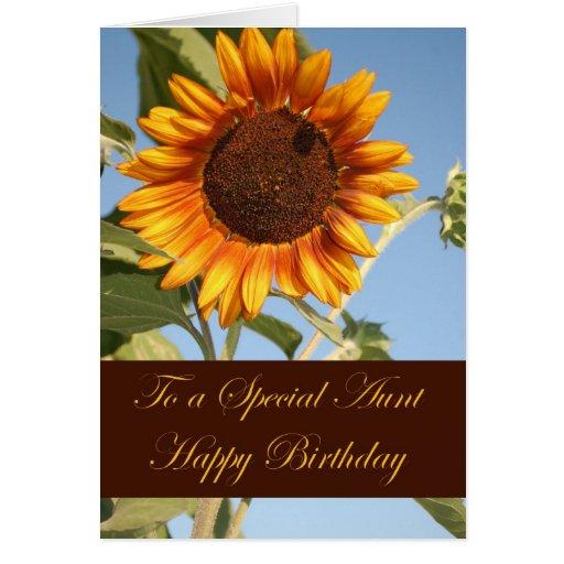 Cartão de aniversário para a tia especial