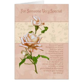 Cartão de aniversário para alguém muito especial