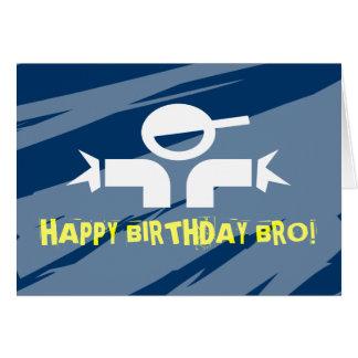 Cartão de aniversário para irmãos - feliz
