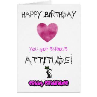 Cartão de aniversário para meninas - pode ser
