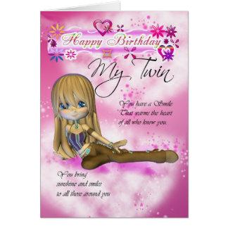 Cartão de aniversário para meu gêmeo, colle da