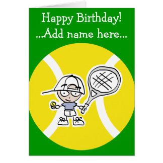 Cartão de aniversário para miúdos dos jogadores de