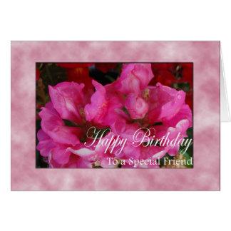 Cartão de aniversário para o amigo especial
