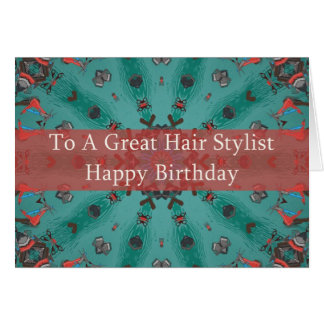 Cartão de aniversário para o cabeleireiro