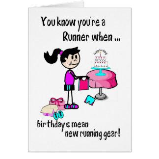 Cartão de aniversário para o corredor da menina