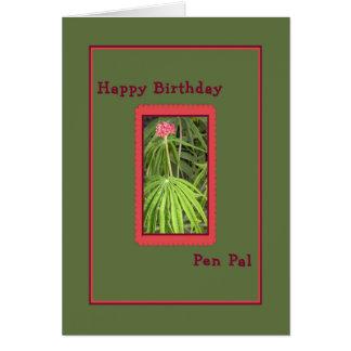 Cartão de aniversário para o correspondente