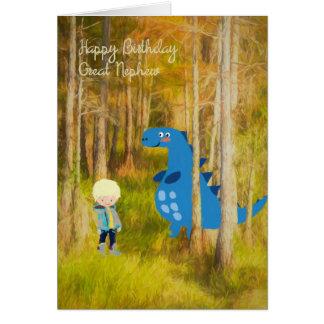 Cartão de aniversário para o grande sobrinho