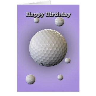 Cartão de aniversário para o jogador de golfe