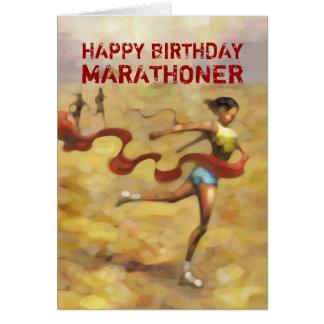 Cartão de aniversário para o Marathoner - fita
