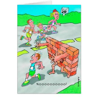 Cartão de aniversário para o Marathoner - não bata