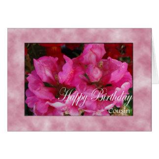 Cartão de aniversário para o primo