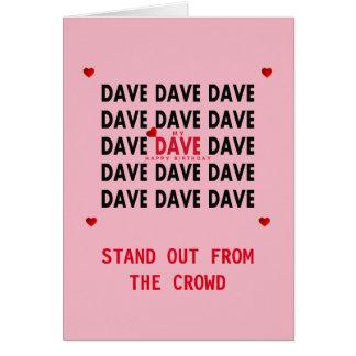 Cartão de aniversário para o rosa de DAVE