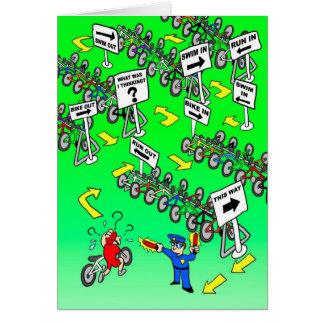 Cartão de aniversário para Triathlete - bobina do