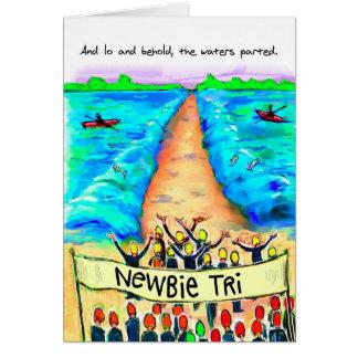 Cartão de aniversário para Triathlete - Newbie