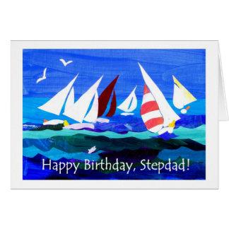 Cartão de aniversário para um padrasto - navigação