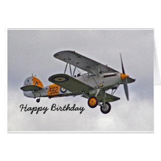 Cartão de aniversário para um piloto com avião