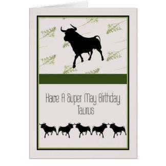 Cartão de aniversário para um Taurus do 20 de