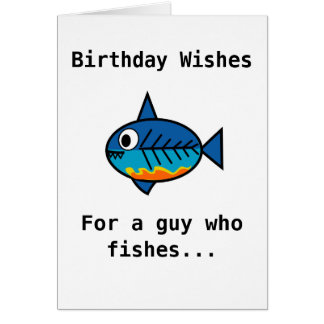 Cartão de aniversário para uma cara que pesque