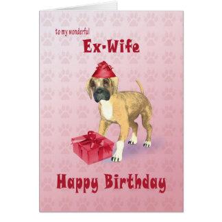 Cartão de aniversário para uma ex-esposa com um
