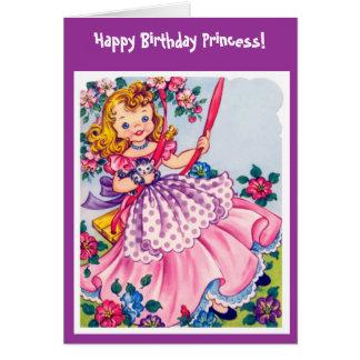 Cartão de aniversário pequeno da princesa