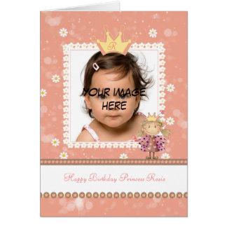 cartão de aniversário pequeno da princesa -
