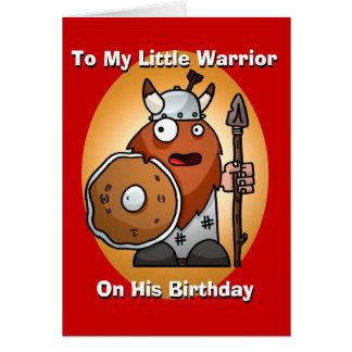 Cartão de aniversário pequeno do guerreiro
