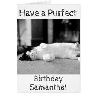 Cartão de aniversário personalizado de Purfect