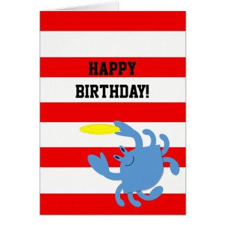 Cartão de aniversário personalizado náutico