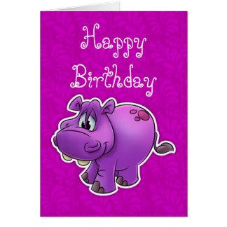 Cartão de aniversário personalizado para a menina