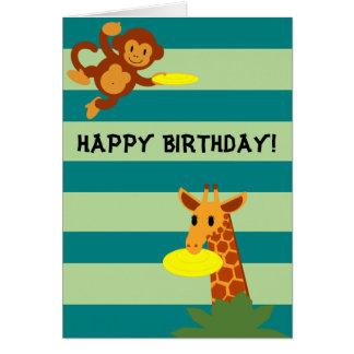Cartão de aniversário personalizado selva do